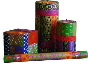 Kerzen aus Afrika handbemalt